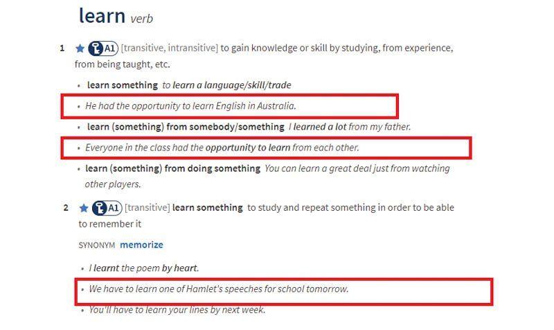 Tham khảo các ví dụ trên từ điển để hiểu rõ hơn cách dùng của từ