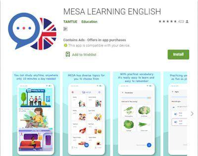 Ứng dụng luyện nói tiếng Anh: Mese Learning English